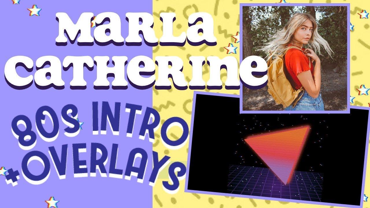 HOW TO EDIT LIKE MARLA CATHERINE ON IPHONE/WINDOWS/MAC (INTRO  TEMPLATES/OVERLAYS) 80s Aesthetic