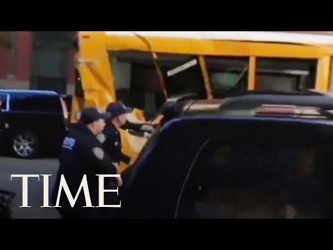 Dramatic Footage Of School Bus Caught Up In Manhattan Truck Attack | TIME