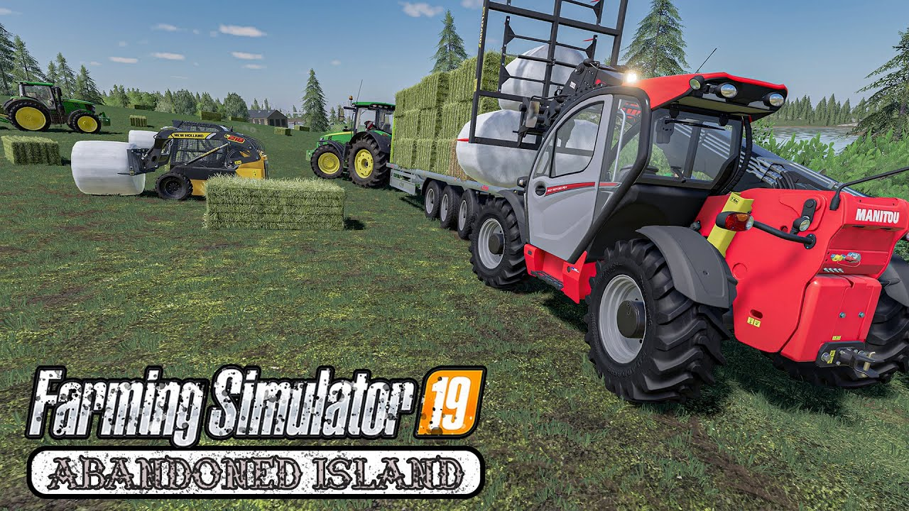 🇫🇷 Breeding Horses, Making Hay | Day 11 on Spectacle Island | Farming Simulator 19 Timelapse