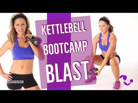 35 Minute Kettlebell Boot Camp Blast Workout: At Home No Repeat Workout for Strength & Cardio