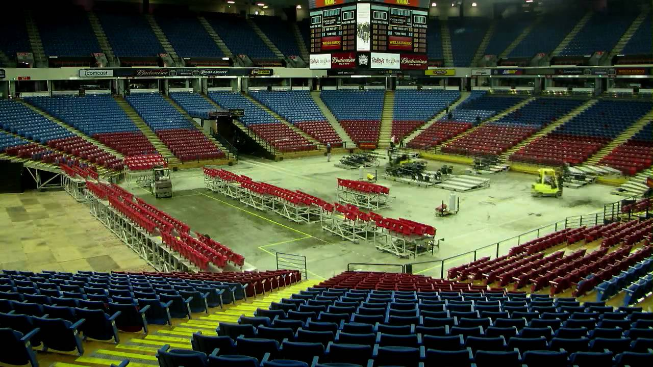 Arena Changeover From Ice To Basketball True Hd Youtube