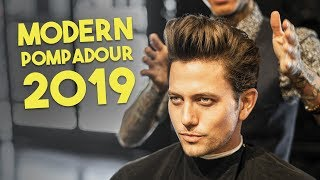 Mens Haircut: Modern Pompadour | How to Control Frizzy Hair
