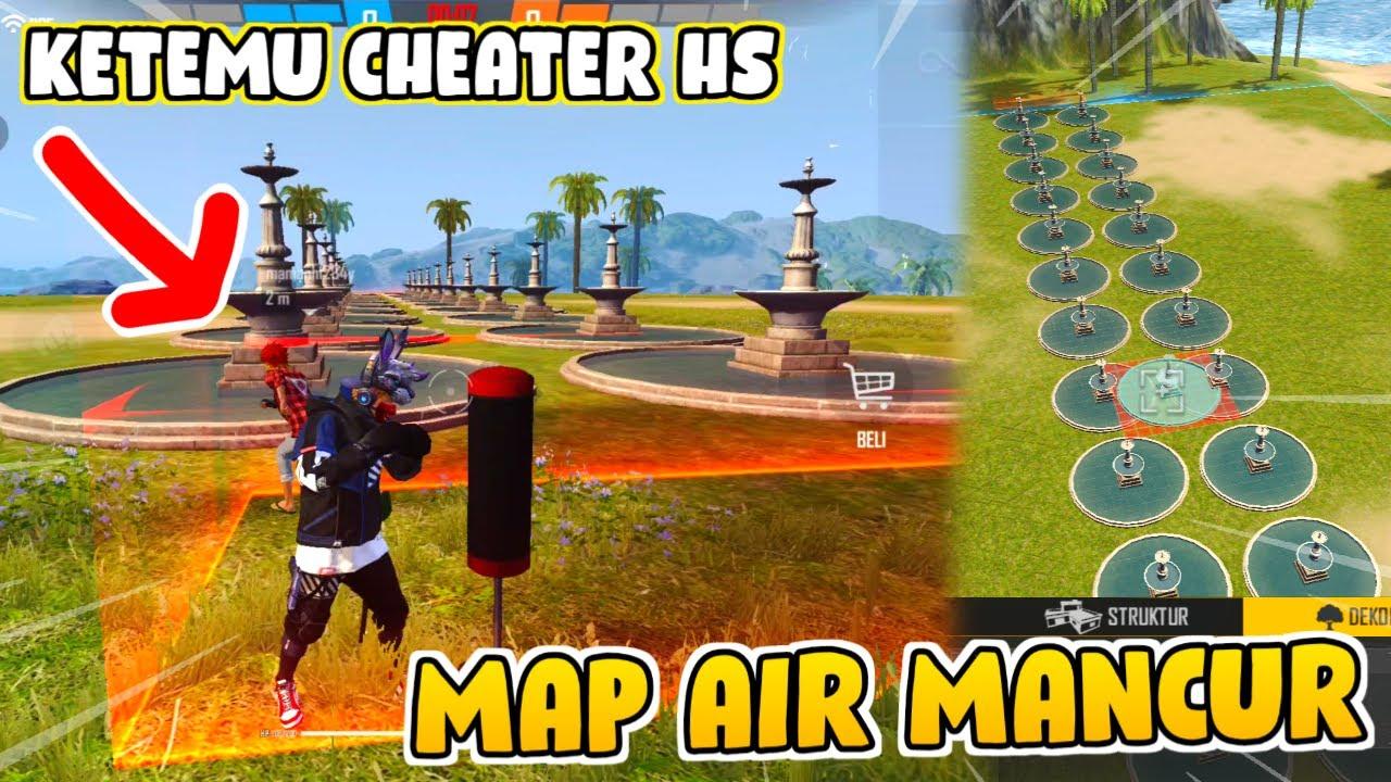 COBAIN MAP BUATAN SENDIRI MALAH KETEMU CHEATER HEADSHOT !! - Craftland Free Fire