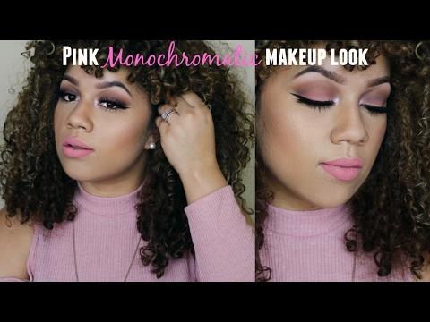 pink-monochromatic-makeup-look- -smashbox-covershot-matte -wanda-mulzac