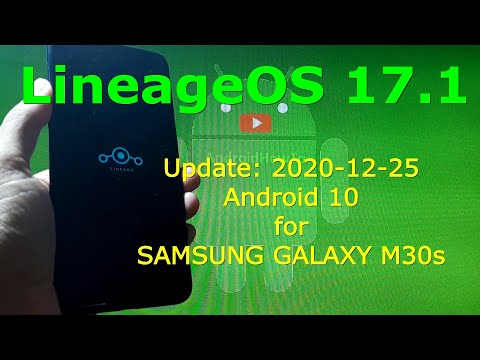 LineageOS 17.1 Android 10 for Samsung Galaxy M30s Update: 20201225