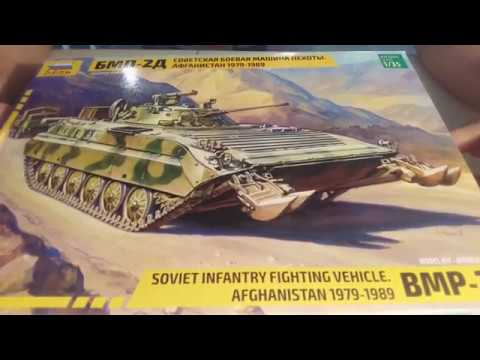 Сборка советской БМП-2Д - Звезда 1:35 3555 - часть 2