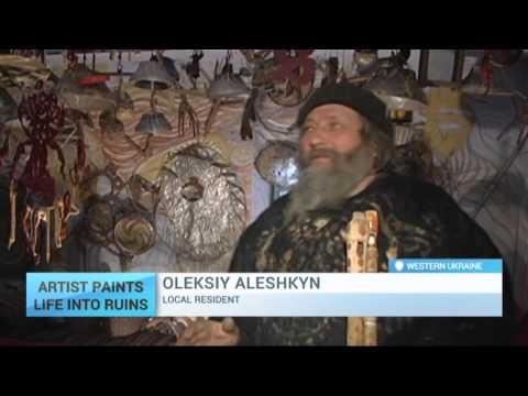 Artist Paints Life Into Ruins: Desolate Ukrainian village becomes artists' canvas