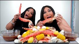 Seafood Boil Mukbang with BLOVESLIFE! | PatrickStarrr