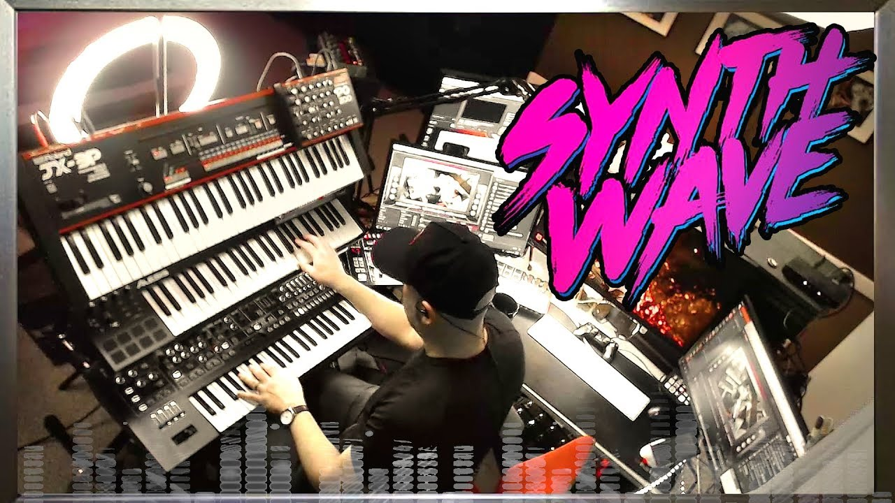Synthwave Jam using Roland Synths (Live in one take) JX-3P, System-8,  Se-02, MX1 & TR-8