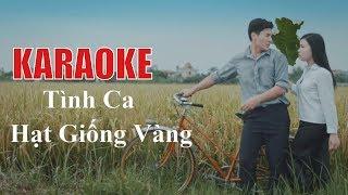 [Karaoke] Bùi Thị Thúy - Tình Ca Hạt Giống Vàng (Lyric Video)