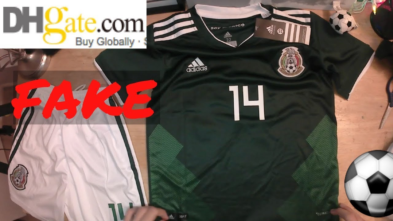 58fa0ff0711 Fake CHICHARITO 2018 MEXICO World Cup jersey unboxing ⚽🔥 Home kit! DHGATE  - YouTube