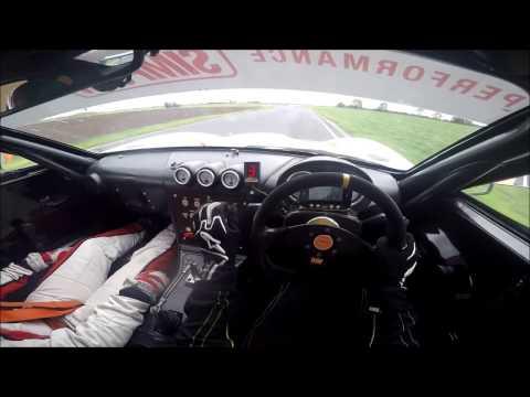 -GINETTA JUNIOR ONBOARD TEST AROUND BLYTON PARK-DRIVER'S POV