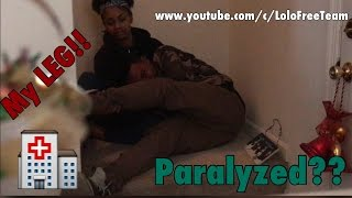 PARALYZED (BROKEN LEG) PRANK ON GIRLFRIEND!!! |Lolo & Free Team|