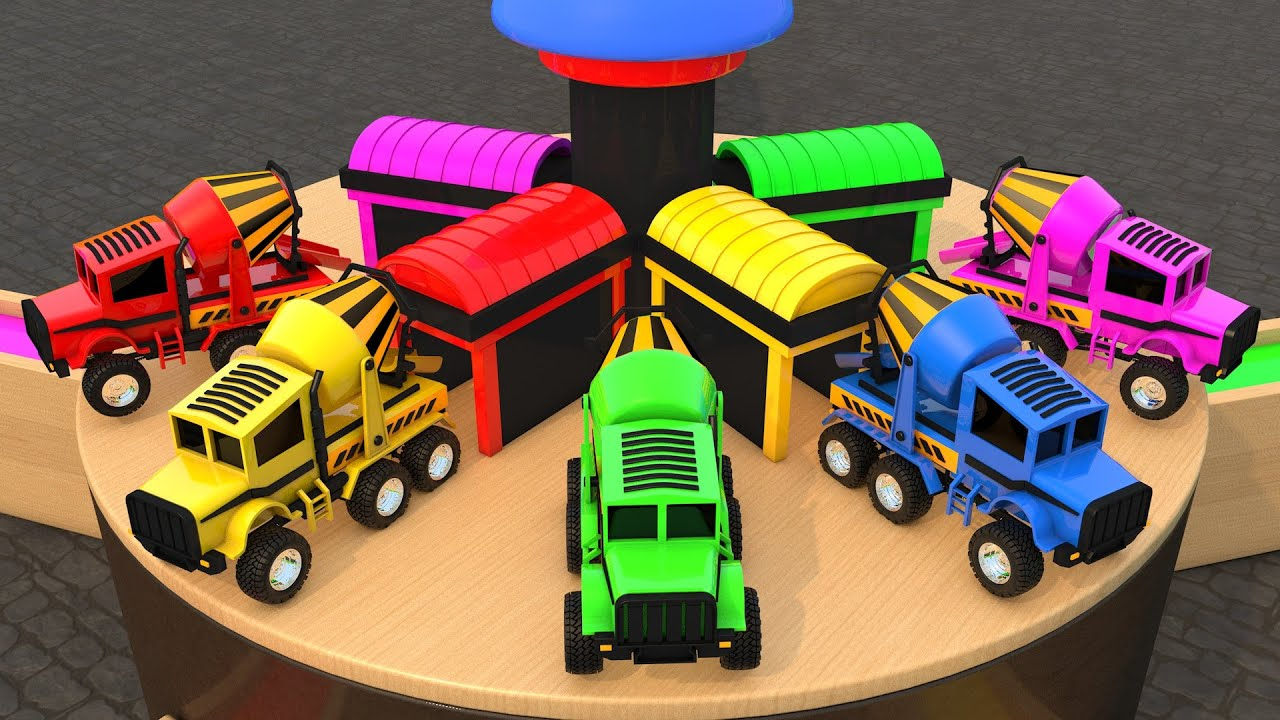 Monster Trucks Color Games for Kids Pretend Play Fund Time ...
