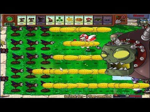 Plants vs Zombies Hack Cob Cannon Gatling Pea vs Threepeater Cannon