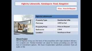 villas in kanakapura road bangalore