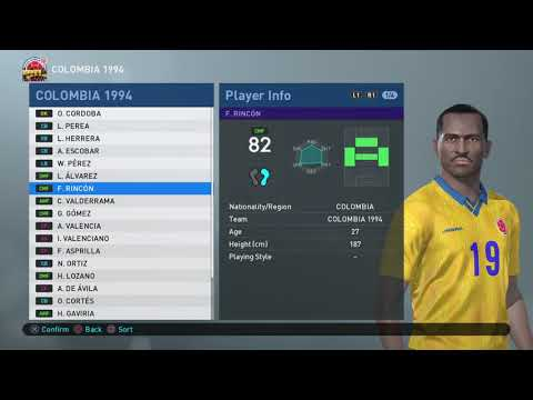 PES 2019 - PS4 - WORLD CUP 1994 - GROUP A - COLOMBIA / SWITZERLAND / ROMANIA / USA