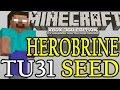 Minecraft HEROBRINE Xbox 360 / PS3 TU31 herobrinE Seed Showcase - 5 Villages & Ocean Monument