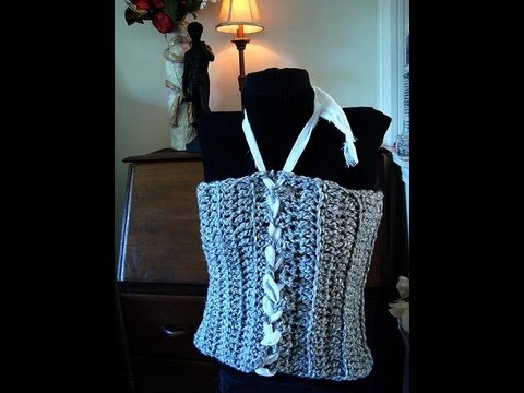 How To Crochet A Laced Up Tube Top Women Children Teens