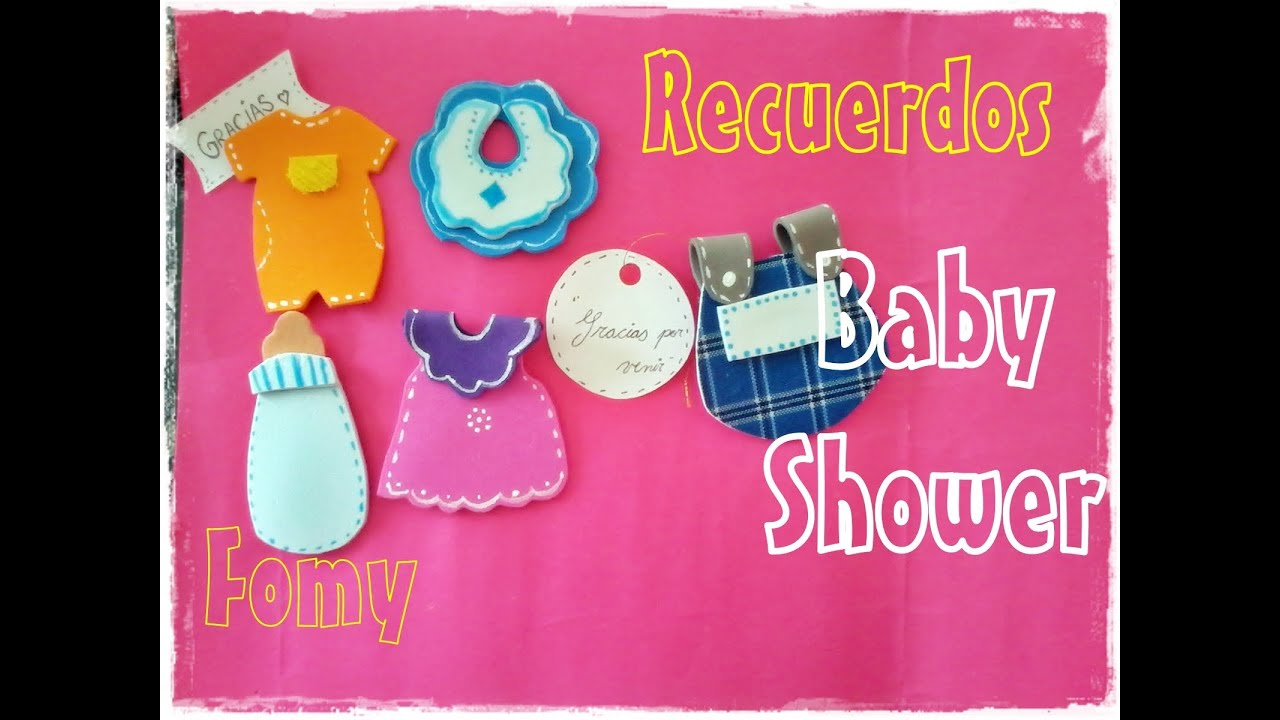 Recuerdos para Baby shower en fomy Moldes de la Nona D