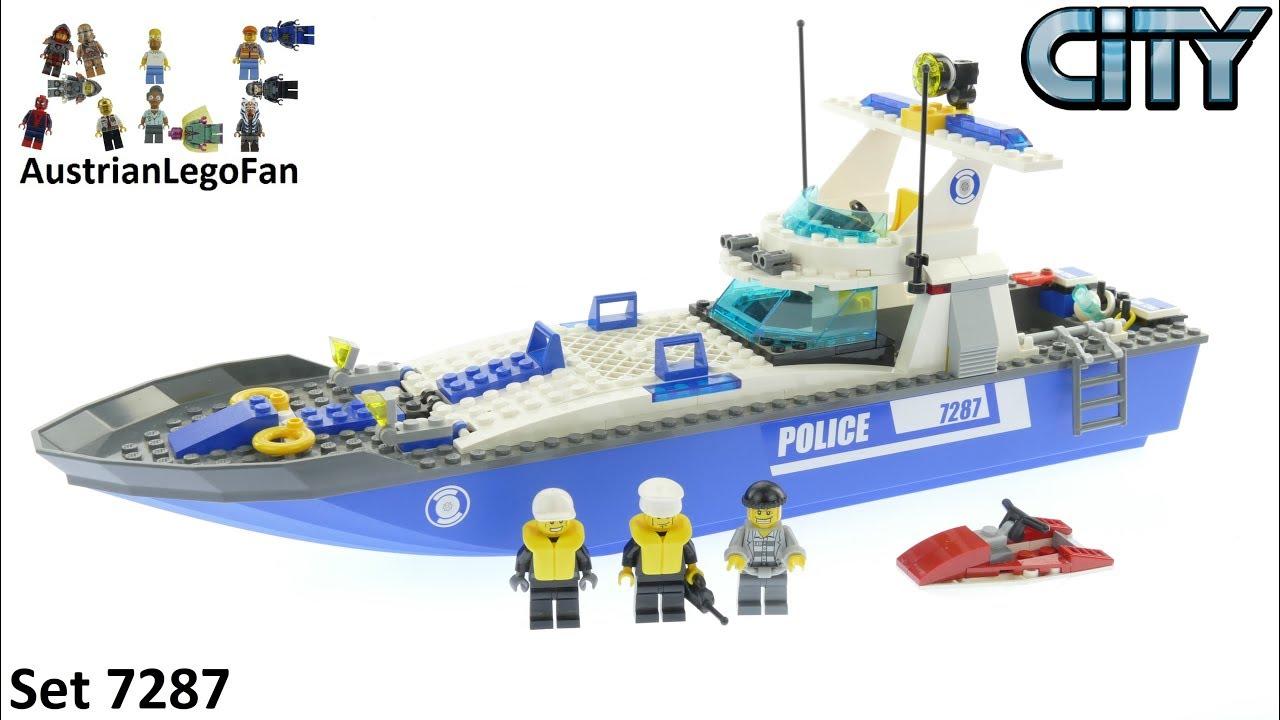 Lego City 7287 Police Boat Speed Build Youtube