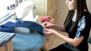 amazing quick easy way to hem jeans keeping the original hem line
