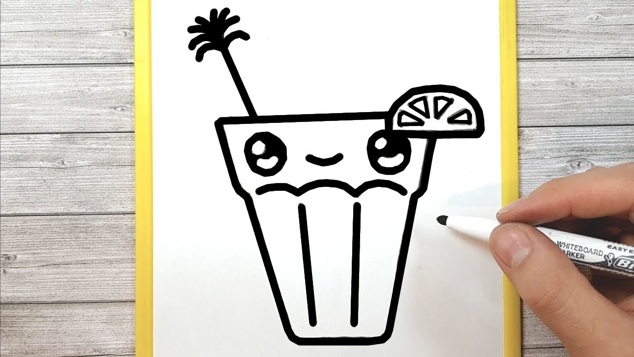 Drawing A Kawaii Drink Easily