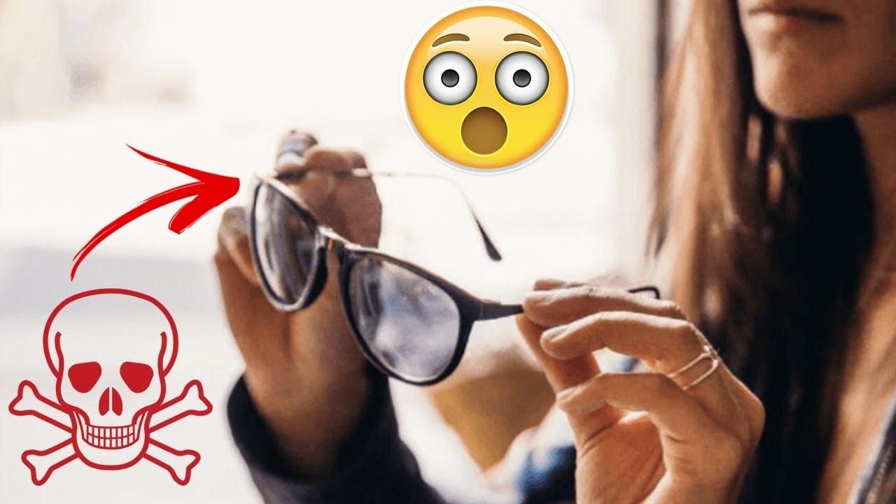 f6c1c43aa اعتقد أنك لن ترتدى النظارات الشمسية المقلدة مرة أخرى بعد مشاهدتك لهذا  الفيديو