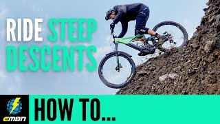 How To Ride Steep Descents With Confidence | E-MTB Skills thumbnail