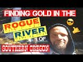 Finding gold in the Rogue River of Southern Oregon.