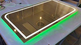 Зеркало Frame  с подсветкой и подогревом. Как надежно упаковать зеркало(Компания Новая идея работает в области разработки и изготовления различного рода визуальной рекламы (нару..., 2016-02-29T14:41:55.000Z)