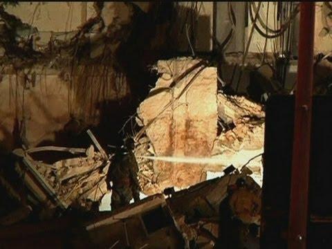 Buildings collapse after explosion in Rio de Janeiro, Brazil