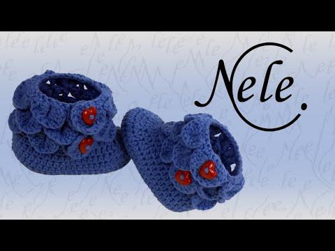 Babyschuhe häkeln – crocodile stitch – Schuppenmuster – Teil 1, DIY Anleitung by NeleC.