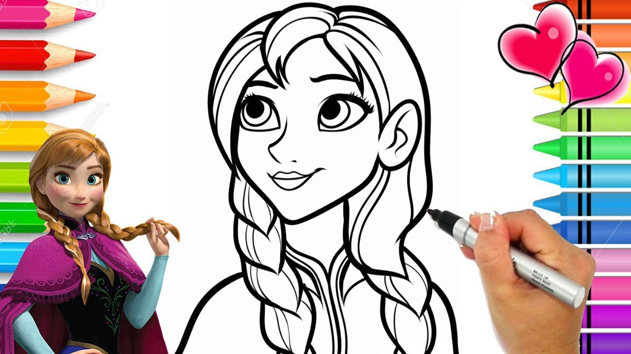 Disney Frozen 2 Anna Coloring Page Frozen Coloring Book Anna And Elsa Coloring Pages Youtube