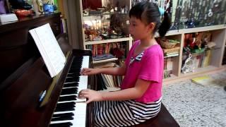 林庭妤   布穀 兒歌 鋼琴演奏 2013 07 31