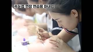 속눈썹 연장 초보자용 연습 마네킹 추천 (구매 링크 댓…