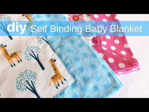 DIY Self Binding Baby Blanket