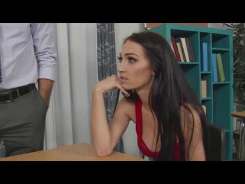 Sexy Teacher in education classroom a cute student How to french kissing thumbnail