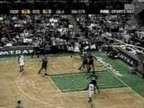 Antoine Walker hits a deep, and I mean deep, three.