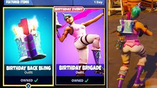 *NEW* BIRTHDAY SKIN & BIRTHDAY CAKE BACK BLING LEAKED GAMEPLAY! (Fortnite Birthday Event UPDATE)