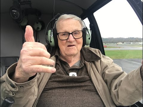 Paul Hurd, a 92-year old U.S. Army veteran, takes flight.