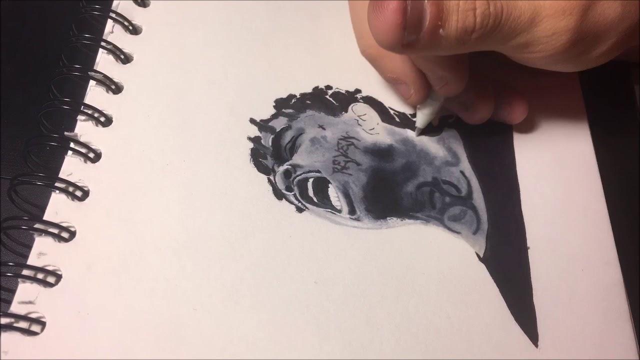 Drawing Ski Mask The Slump God ( Timelapse Drawing )