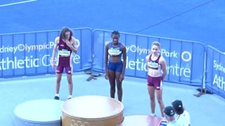 U/14yrs 100m Women Presentation, Australian Athletics Championships, Olympic Park Sydney 1/04/2017 2017 Video