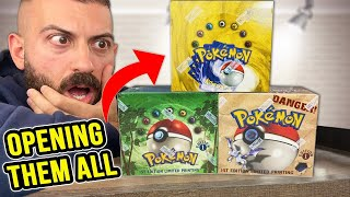 Opening EVERY Pokemon Cards Box From 1999!