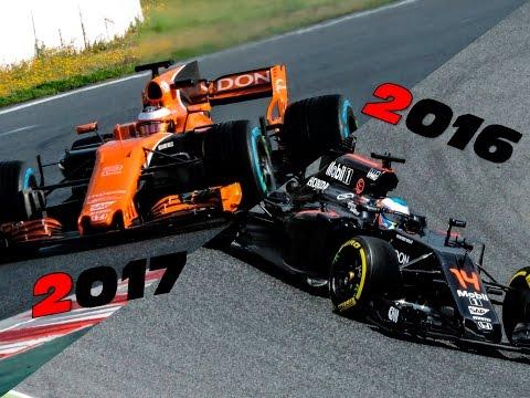F1 2017 vs 2016 McLaren Honda Engine Sound Comparison (MP4-31 vs MCL-32)