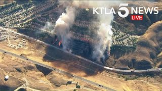 Castaic Fire Threatens Homes Near 5 Freeway