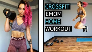 CrossFit EMOM Home Workout w/ Dumbbells and Bodyweight Exercises!