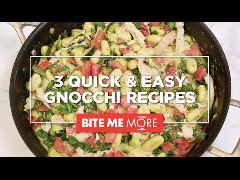 DINNER RECIPE - Quick & Easy Gnocchi 3 Ways