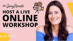 How to Host a Live Online Workshop or Training with Crowdcast (#GoingRemote)