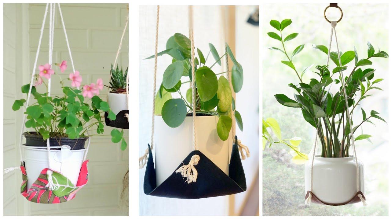 Suporte de plantas com CARA DE LOJA - Ideia linda para pendurar vaso